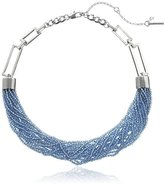 "Kenneth Cole New York Denim Days"" Seed Bead Torsade Necklace, 18"" + 3"" Extender"