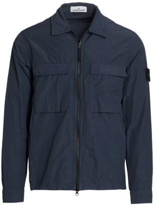 Stone Island Nylon Zip-Front Jacket