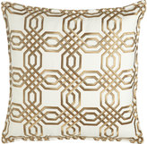 """Isabella Collection Braedon Embroidered Pillow, 19""""Sq."""