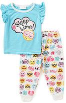 Sweet Heart Rose Little/Big Girls 2T-10 Sleep Time Top & Printed Pants Pajama Set