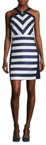 Shoshanna Metallic Stripe Sheath Dress
