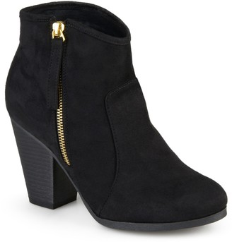 Journee Collection Link Round Toe Bootie - Wide Width