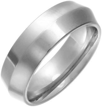 Theia Titanium Triangular Highly Polished 7mm Ring - Size X