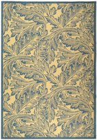 Safavieh Courtyard Collection CY2996-3101 Natural and Blue Indoor/ Outdoor Area Rug, 8 feet by 11 feet (8' x 11')