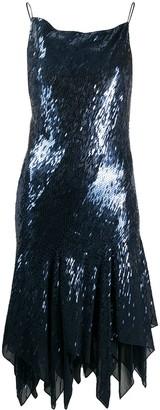 Donna Karan Sequin Asymmetric Dress