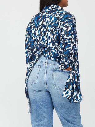 Ri Plus Split Back Printed Shirt - Multi