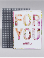 Marks and Spencer For You Floral Card