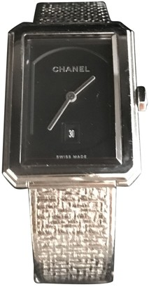 Chanel Boy-Friend Black Steel Watches