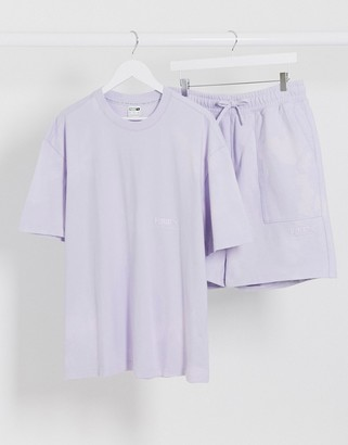 Puma heavy classics t-shirt in lilac
