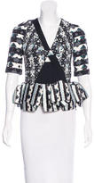 Peter Pilotto Abstract Print Short Sleeve Blouse