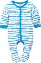 Coccoli Zigzag Stripe Footie (Baby Boys)
