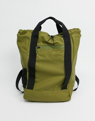 Rains 1347 ultralight tote bag in sage green