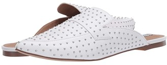 Steve Madden Flavor-S Flat Mule (White Leather) Women's Shoes