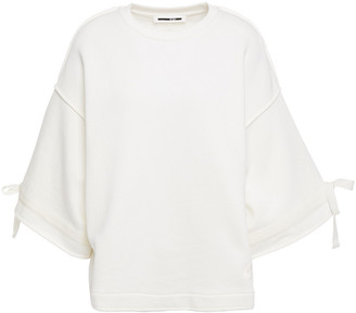 McQ Bow-detailed French Cotton-terry Top