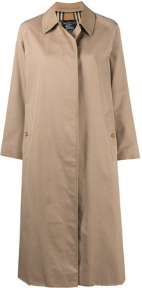 Burberry Pre-Owned Flared Mid-Length Coat