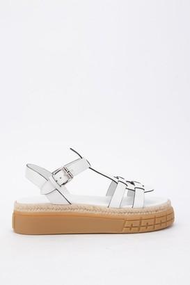 Prada Woven Straps Espadrilles Sandals