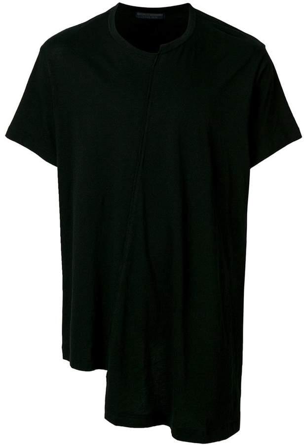 Yohji Yamamoto asymmetric hem T-shirt