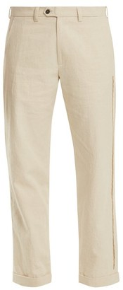 Jupe By Jackie Ebeko Embroidered Mid-rise Cotton Trousers - Womens - Cream