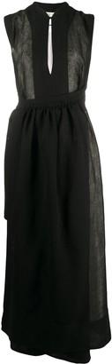 Jil Sander wrap style front midi dress