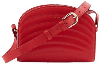 A.P.C. Little Demi-Lune Mini bag in quilted leather