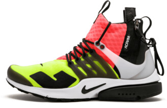 Nike Presto Mid - Acronym 'Hot Lava/Volt' Shoes - Size Large