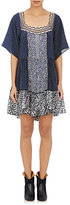 Chloé Women's Mixed-Fabric Swing Dress-NAVY