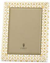 L'OBJET Chevron enamel 5R photo frame - Gold