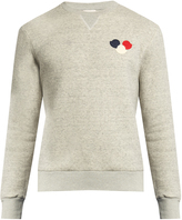 Moncler Logo-appliqué cotton-blend sweatshirt