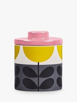 Orla Kiely Sunflower Ceramic Storage Jar, 750ml, Ochre/Multi