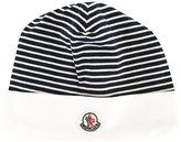Moncler striped beanie - kids - Cotton - 40 cm