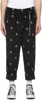 Mastermind Japan Black Corduroy Cropped Beach Trousers