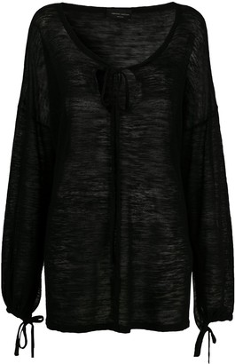 Roberto Collina Tie-Neck Knitted Top