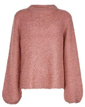 Dorothy Perkins Womens Vila Pink Knitted Funnel Neck Jumper, Pink