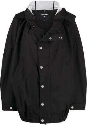 CHEN PENG oversized hooded jacket