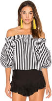 Parker Petunia Top in Black & White. - size L (also in M,S,XS)