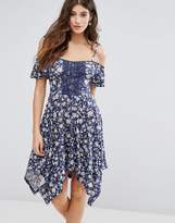Miss Selfridge Hanky Hem Floral Dress