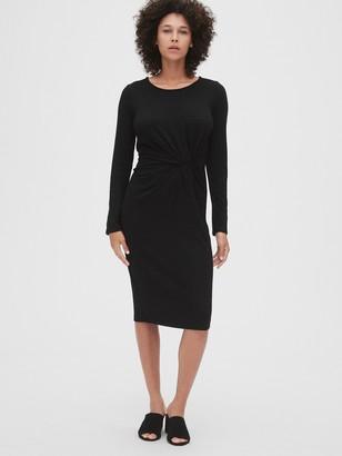 Gap Softspun Twist-Knot Midi Dress
