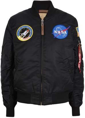 Alpha Industries MA1-VF NASA Black Shell Bomber Jacket