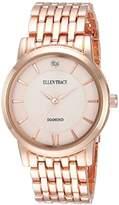 Ellen Tracy Women's Quartz Metal and Alloy Casual Watch, Color:White (Model: ET5292RG)