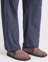 Marks and Spencer Velour Pull On Slippers