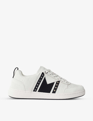 Maje Furious leather and suede trainers