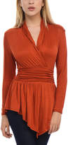Bellino Rust Hi-Low Surplice Top