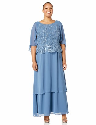 Le Bos Women's Plus Size Embroidered Tiered Dress