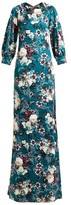 Erdem Etheline Eastbury Floral-print Gown - Womens - Green Multi