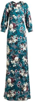 Erdem Etheline Eastbury Floral-print Gown - Green Multi