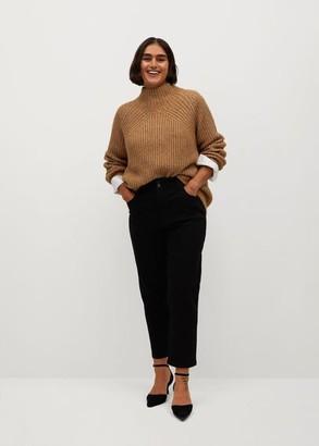 MANGO Metallic-knit sweater