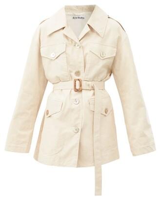 Acne Studios Otilina Cotton-blend Canvas Jacket - Cream