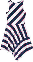 Tommy Hilfiger Striped Asymmetrical-Hem Dress, Big Girls