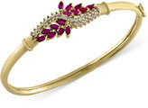 Effy Ruby Royale by Ruby (1-5/8 ct. t.w.) and Diamond (1/2 ct. t.w.) Bangle Bracelet in 14k Gold, Created for Macy's