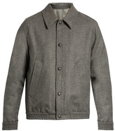 Ami Point-collar Wool-blend Flannel Jacket